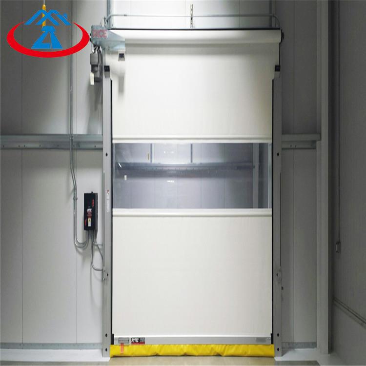 White 3750mmH*4250mmW High Performance Good Sealing Fast PVC Shutter Door High Speed Doors