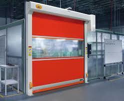 PVChigh speed roller shutter door / fast door DDP on sale