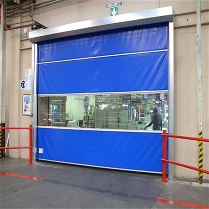 Blue 3500mmH*5000mmW Plastic Vertical Electric High Speed Roll up Door Manufacturer