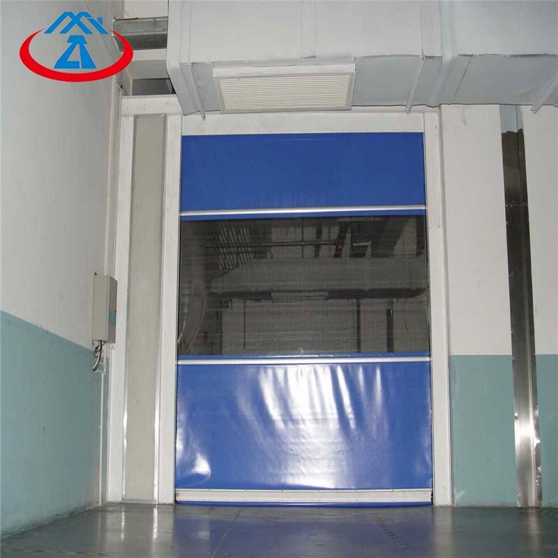 3000mm*3000mm high speed fast roll up door transparent pvc fabric material