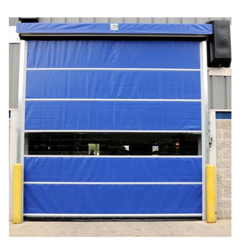 Blue 3500mmH*5000mmW Plastic Vertical Electric High Speed Roll up Door Manufacturer