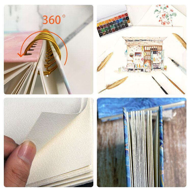 product-Dezheng-Spiral notebook hardcover small top wire 85 x 11 spiral book binding mathematical to-1