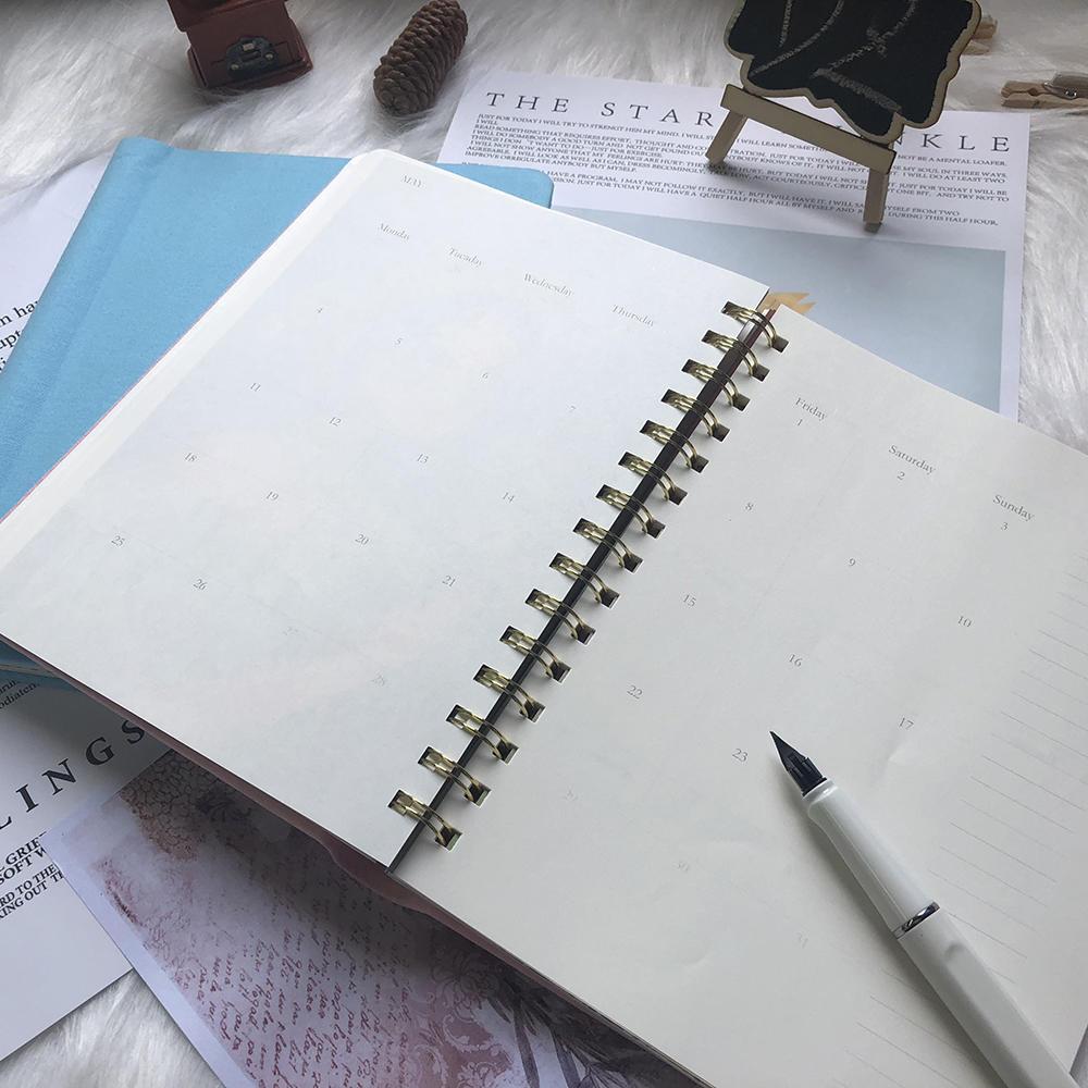 German Canvas Cover custom logo Custom PrintingHardcover Daily year Planner,hardcover notebook