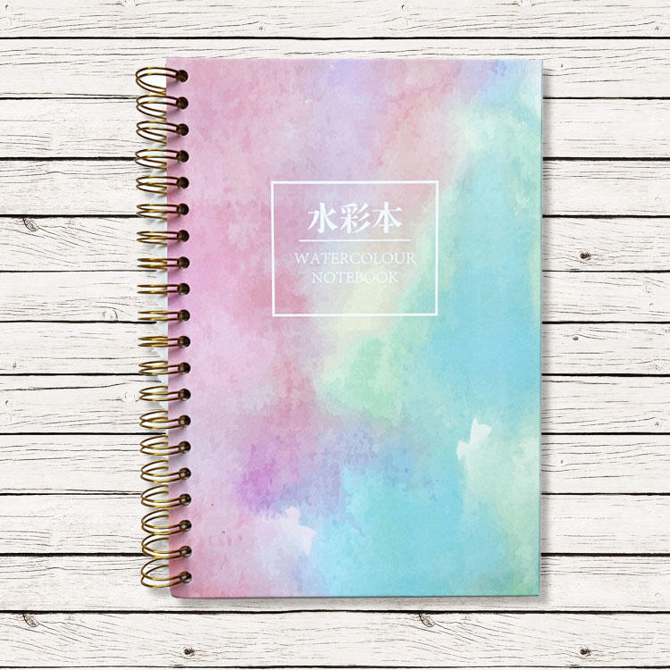 product-Spiral notebook hardcover small top wire 85 x 11 spiral book binding mathematical top flip s-1