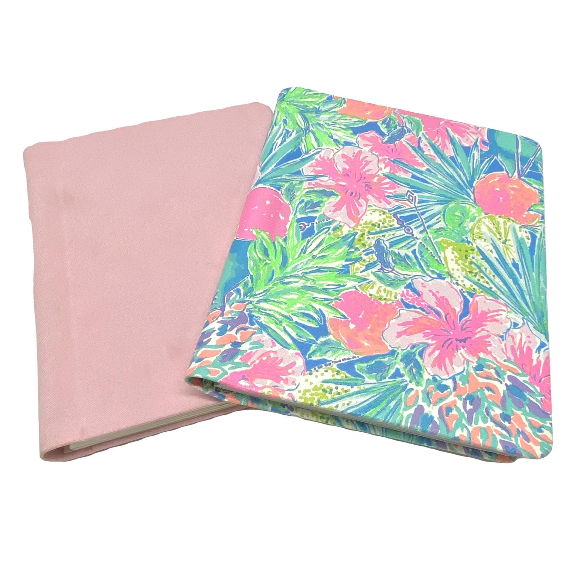 product-Elegant A5 Pink Linen Customized Binder Hardcover Spiral Planner-Dezheng-img-1