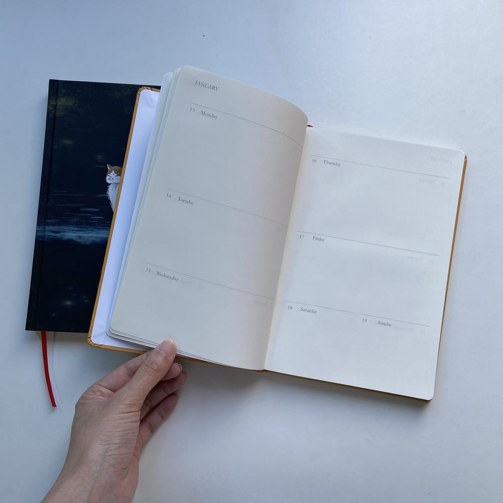 Hand made Classic Notebook Journals,custom black page notebook