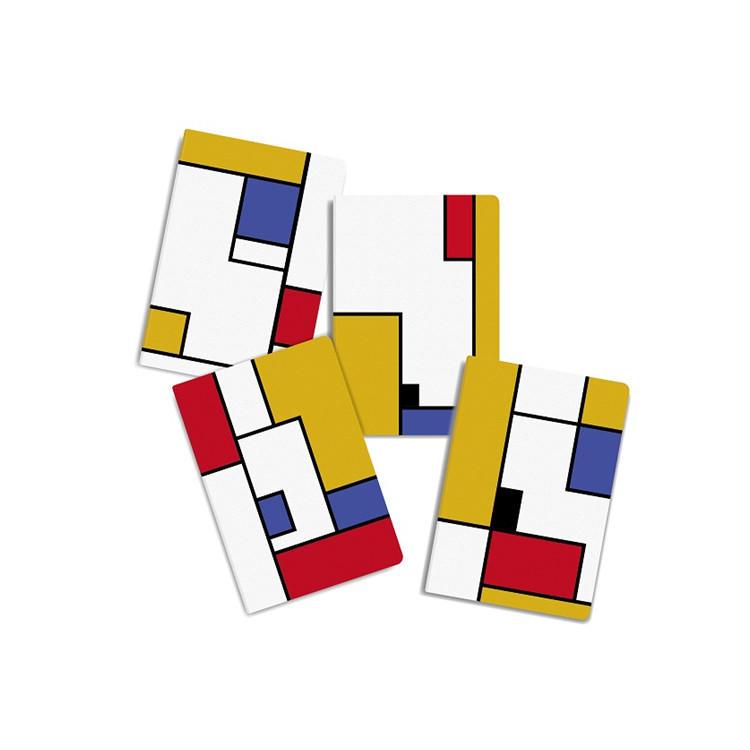 A5 Elegant Personalized Mondrian StyleDaily Planner Hardcover Notebook Bulk