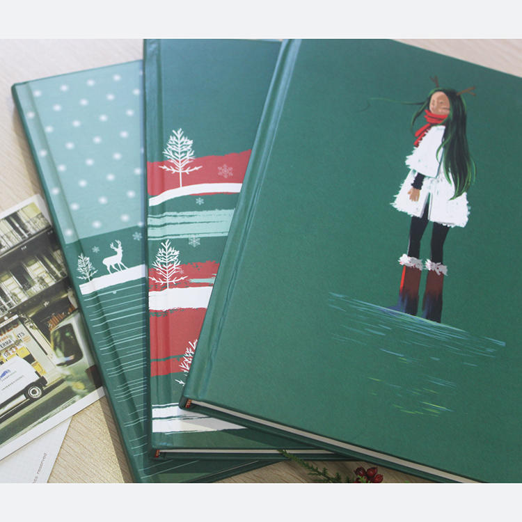 2020 Custom Printing Painting Style Hardcover Daily year Planner notebook for Christmas gift