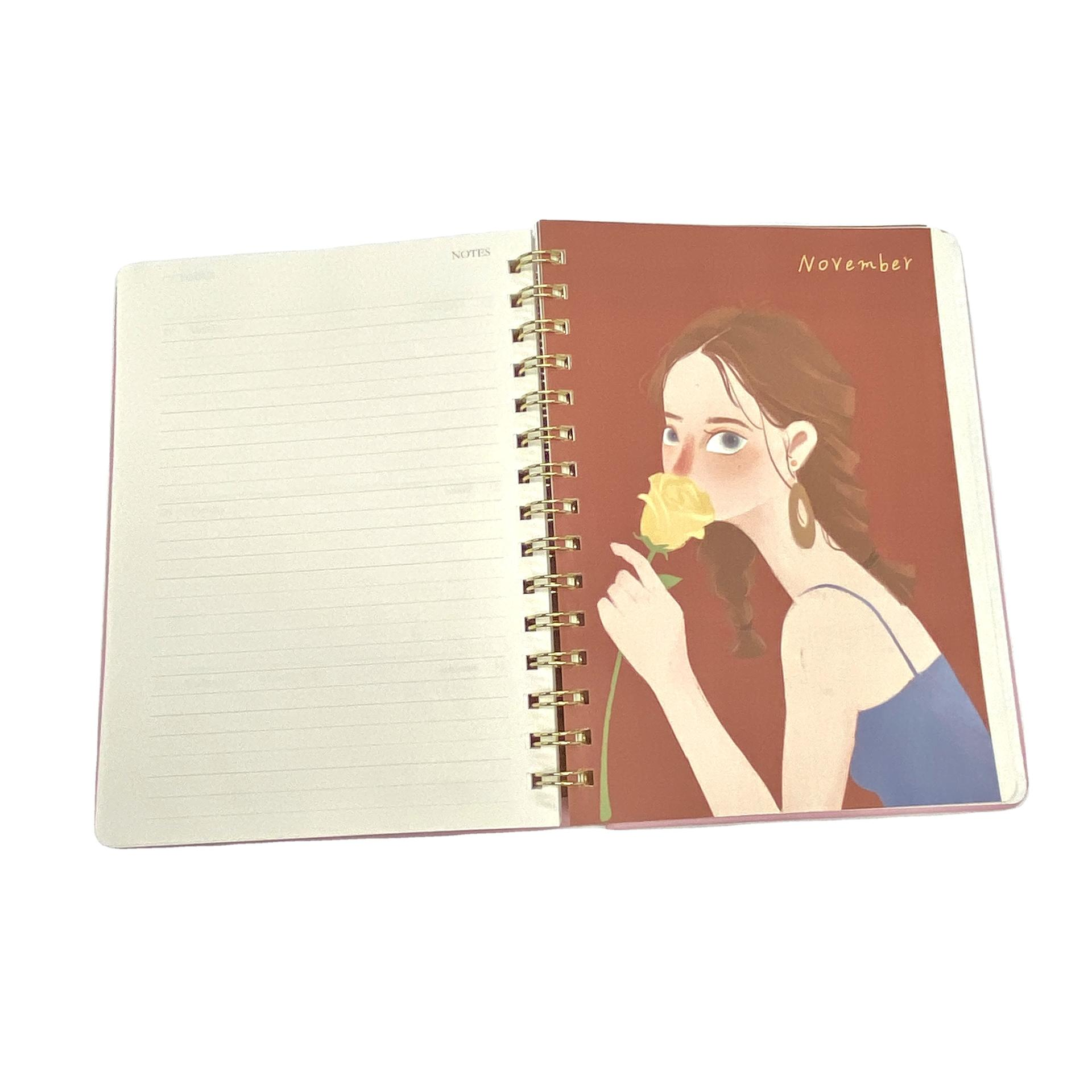 product-Dezheng-Original Linen Hardcover Recycled Notebook Spiral Planner Custom Printing-img-1