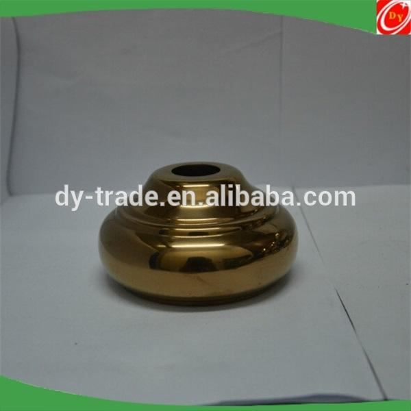 stainless steel stair handrail baluster ball base with gold-plated