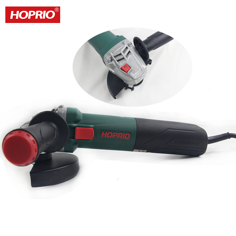 Hoprio 5 inch portable China angle grinder with brushless motor