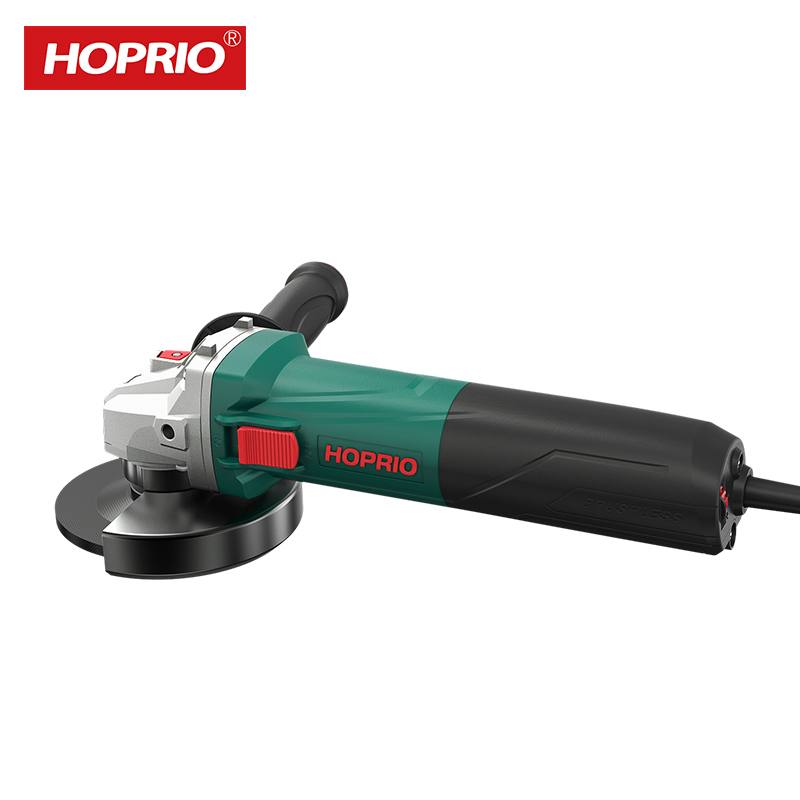 HOPRIO 125mm Variable SpeedProfessional electric angle grinder Brushless Power Tools