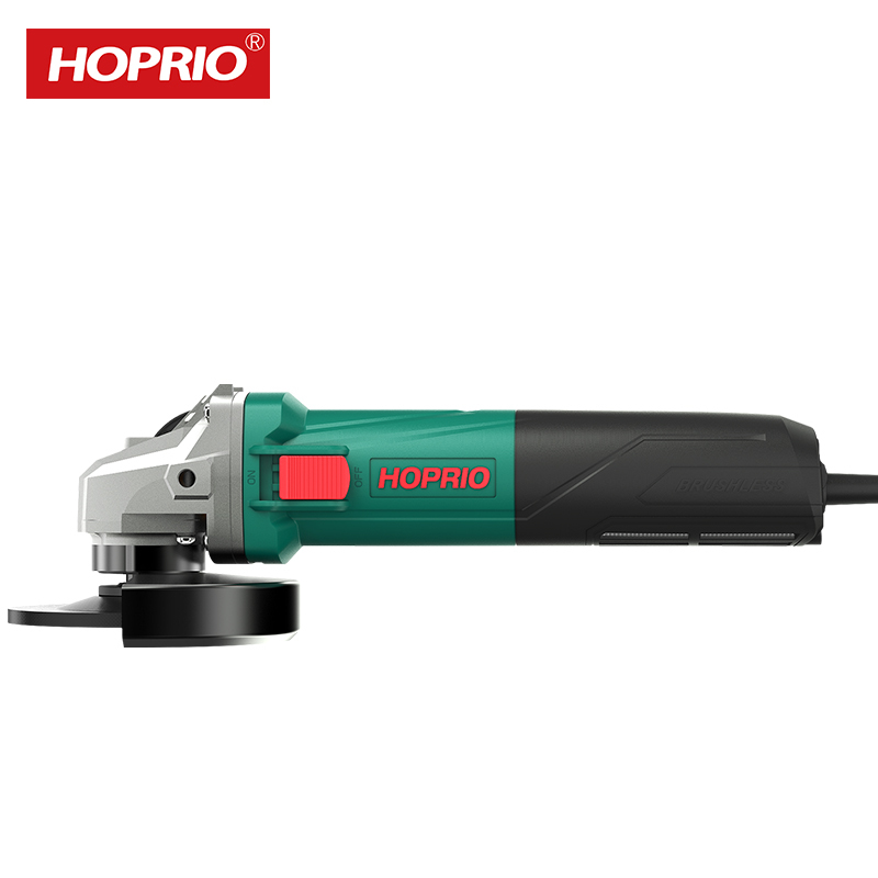 HOPRIO 125MM 1250W Maintenance Free Electric Power Tools Brushless Angle Grinder Manufacturers