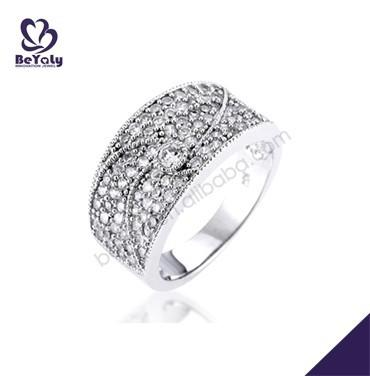 Nice cz micro pave setting 925 sterling silver jewelry