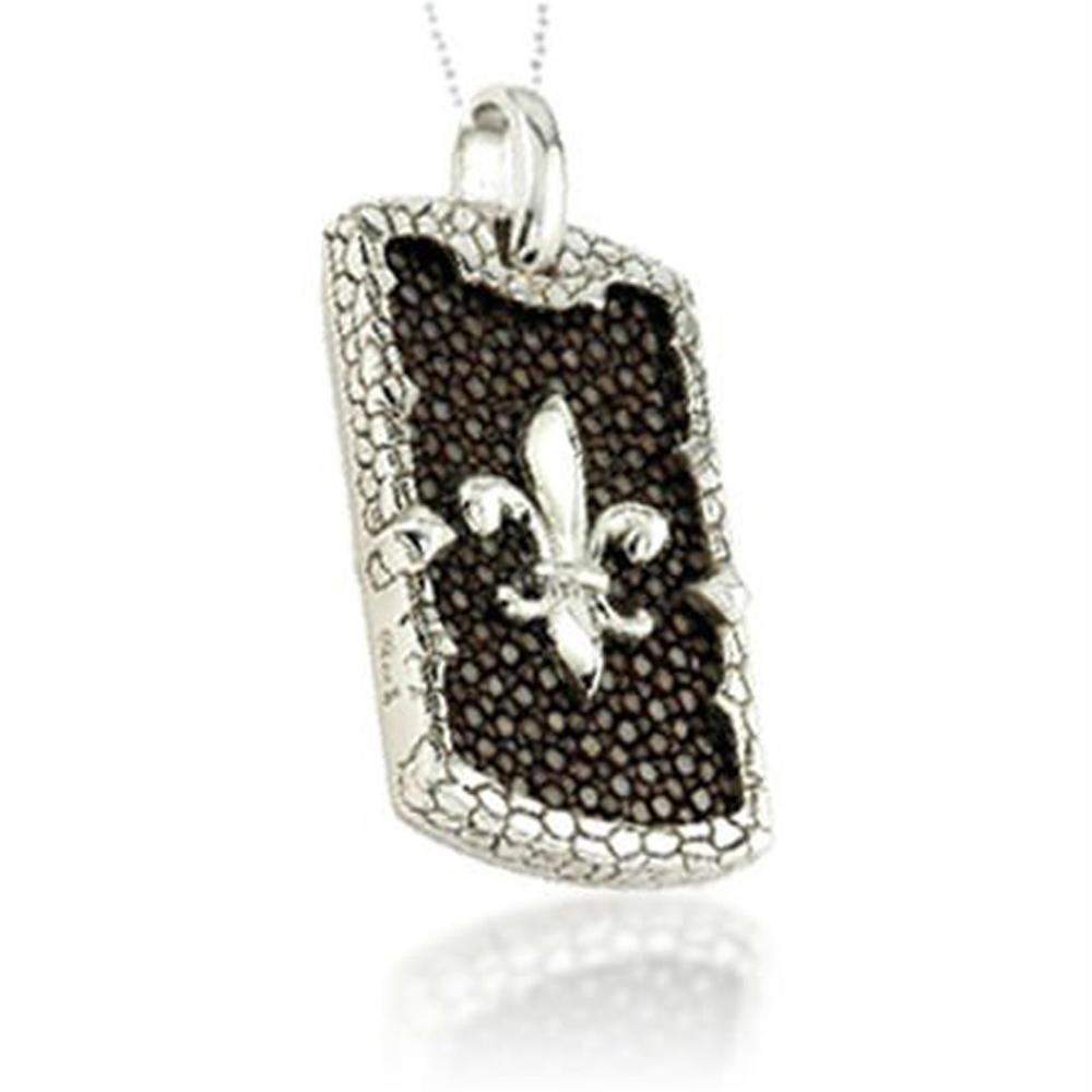 Fancy Fleur De Lis Wholesale For Female Silver Pendant Shapes