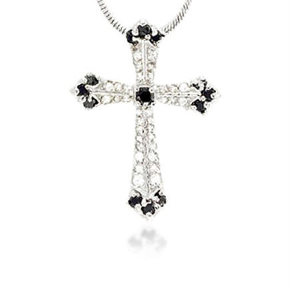 Factory price olive crystal silver bijoux big cross pendants