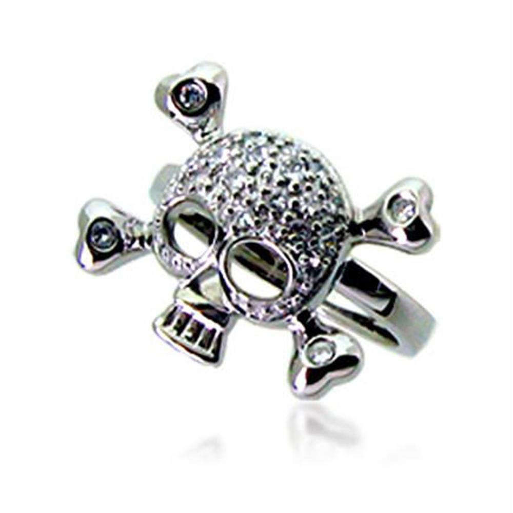 Promotional skull design unique silver rings