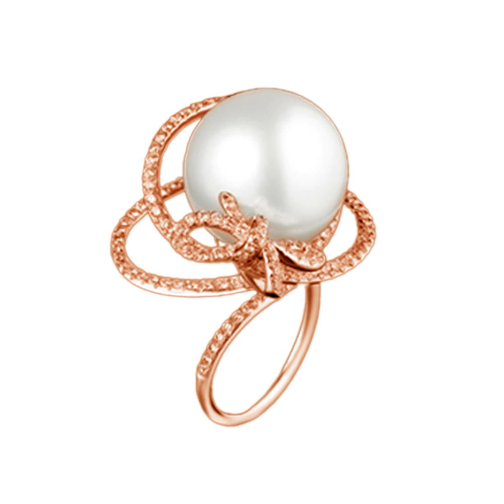 Refined And Intricate Design Pearl Chic Final Fantasy Silver Ring