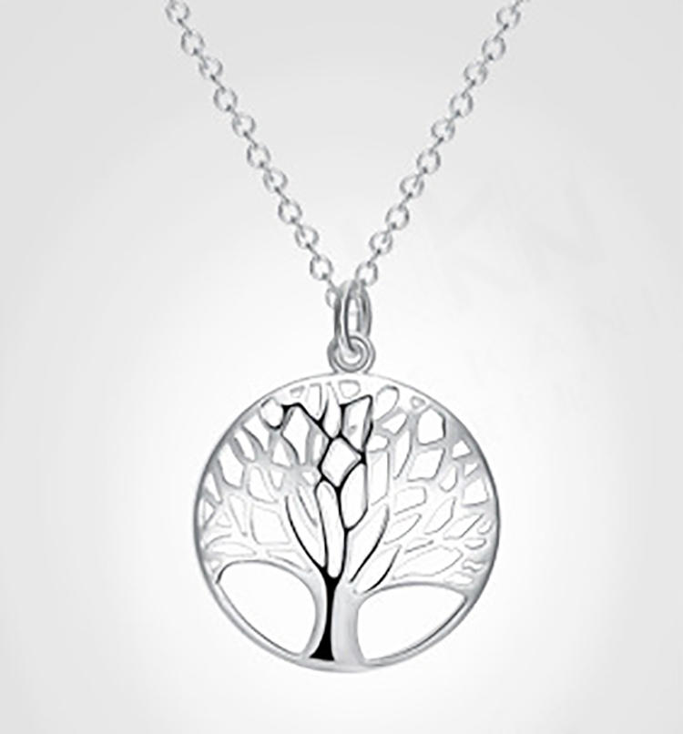 Charming Fairy Female Favor Silver Plated Tree Of Life Pendant
