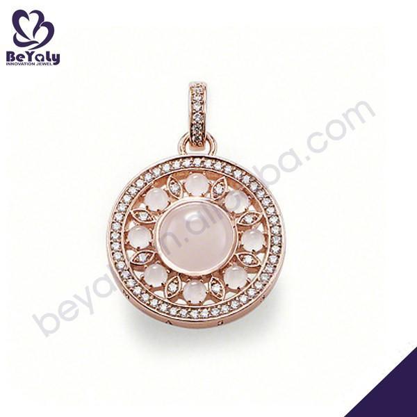 Sun shape design 925 silver pendant delicately jewelry