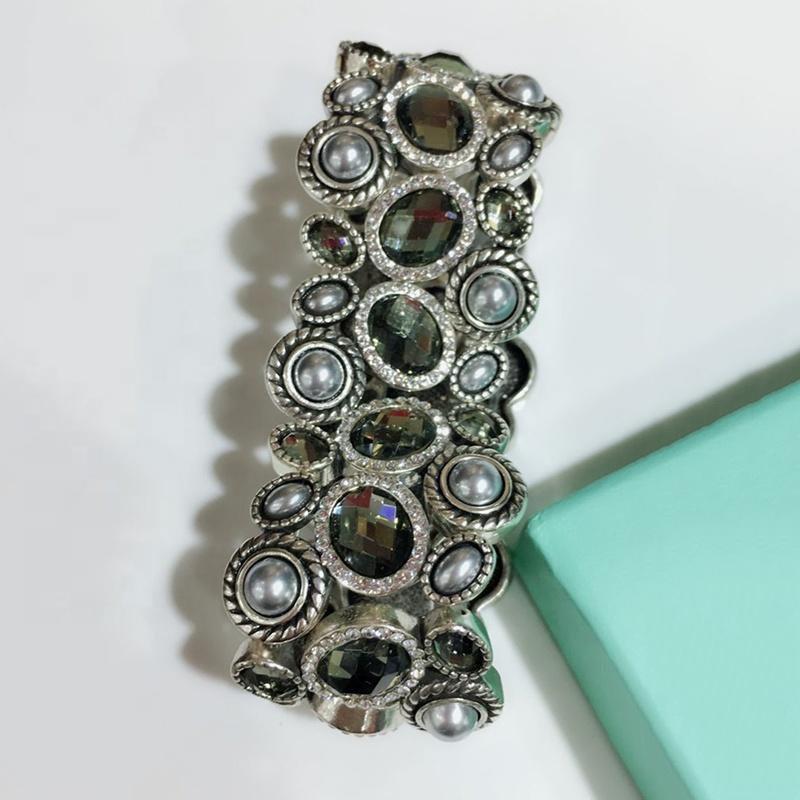 Excellent Quality Fashion Silver Rose Quartz Bracelet