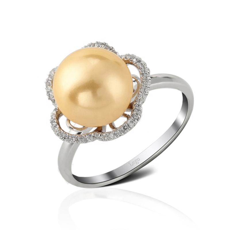 Elegant Pearl Silver Jewelry Engagement And Wedding Ring Women