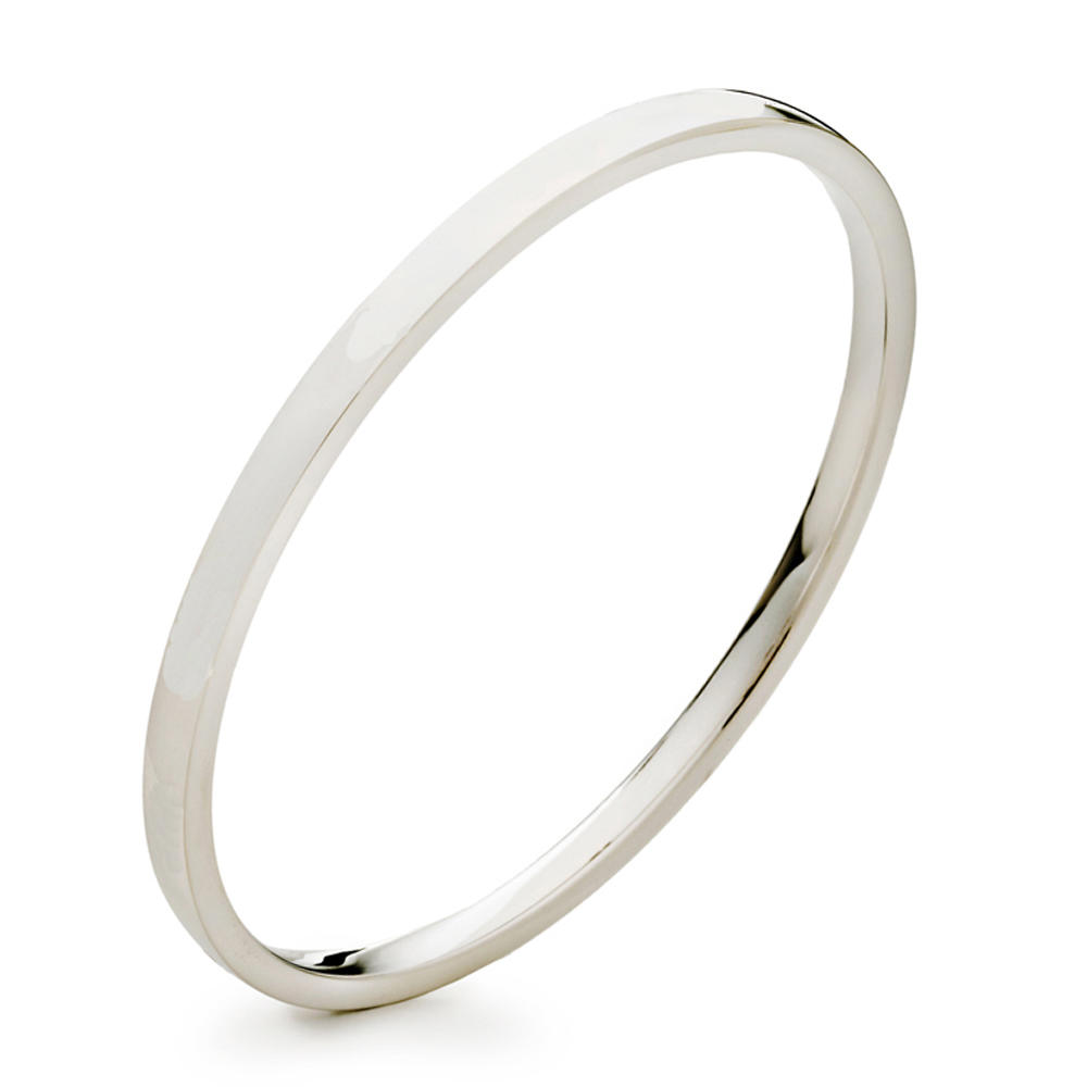 Refined thin style blank engravable silver bracelet man