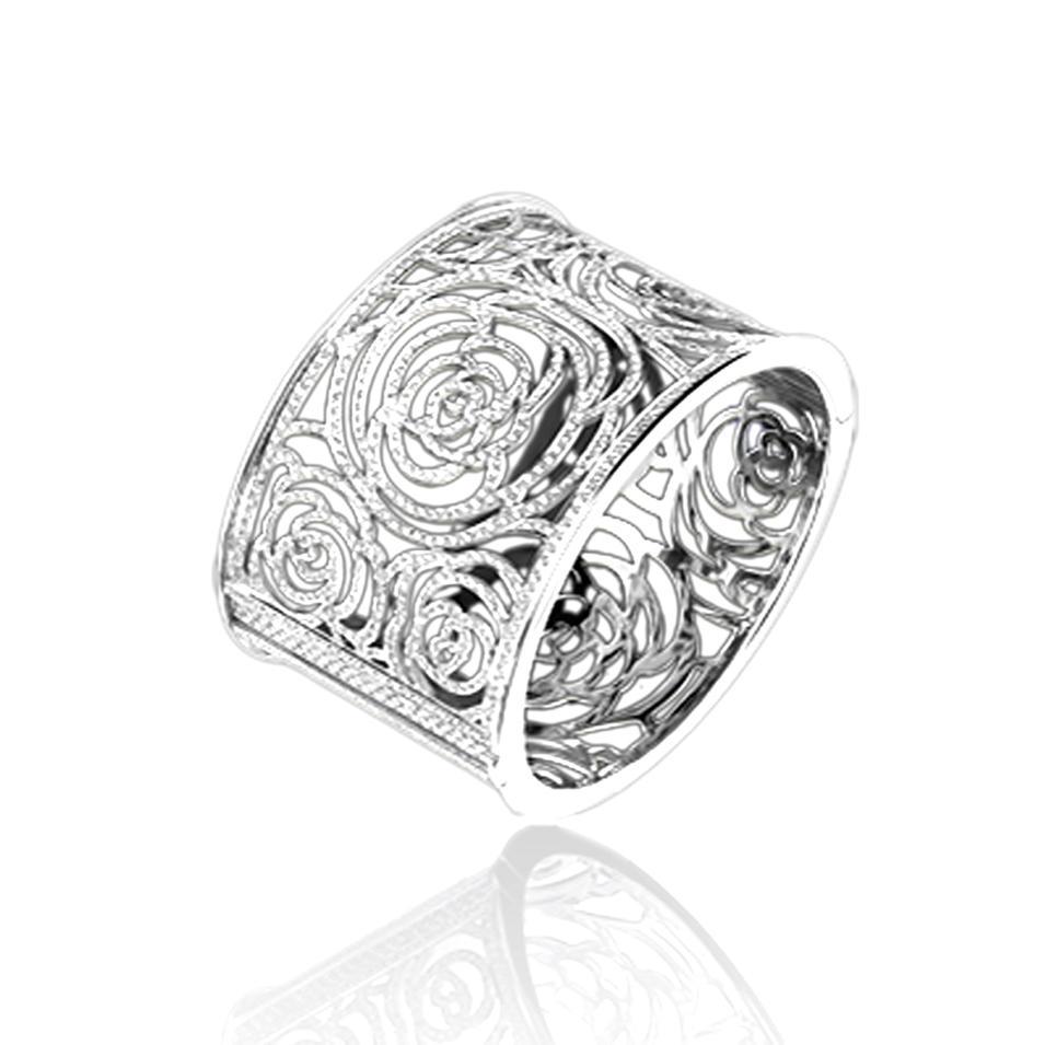 Esthetical flower 925 sterling silver bracelet made in italy