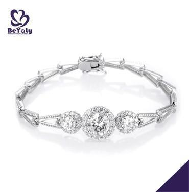 Fashion love and peace silver guangzhou bracelet