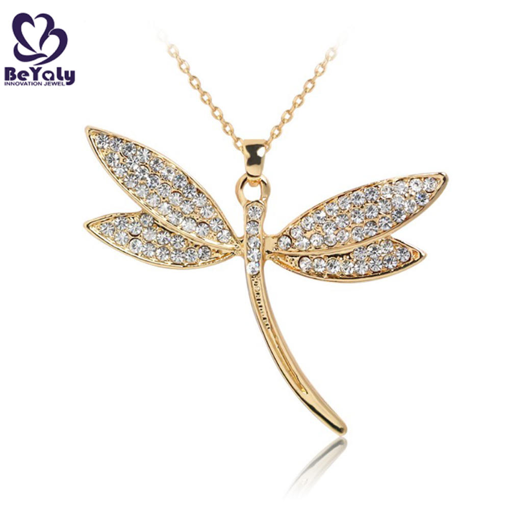 Wholesale 925 silver cz jewelry dragonfly charm pendant necklace