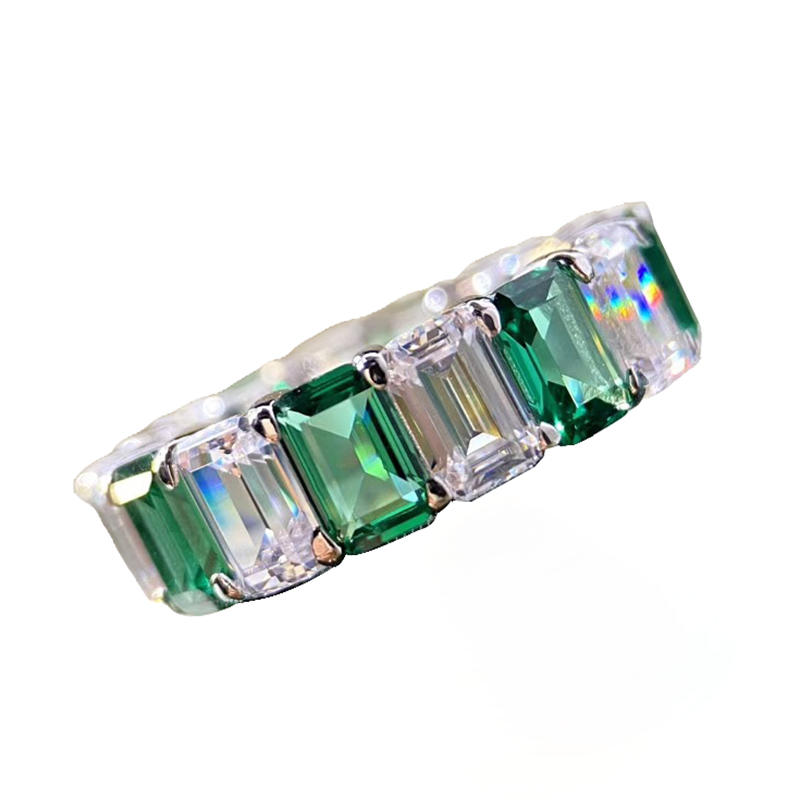 Rare Green Zircon Female Silver Ring Wholesale Jewelry Israel