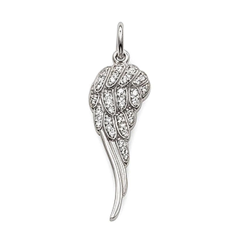 Big Silver Wing Heart Choker American Diamonds Necklace Set