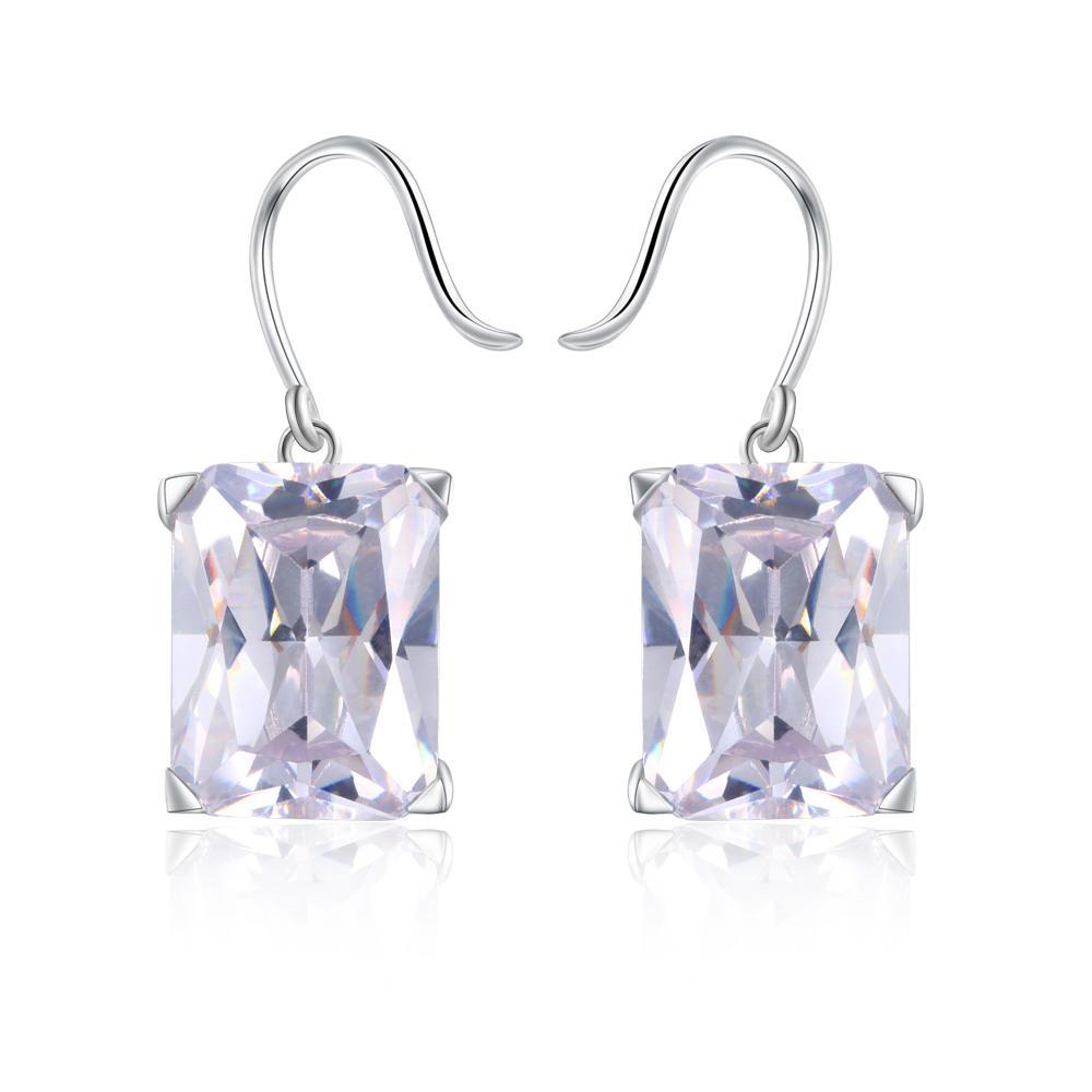 2020 Stock Silver Hooks Fashion Zircon Earrings Geometric For Retail