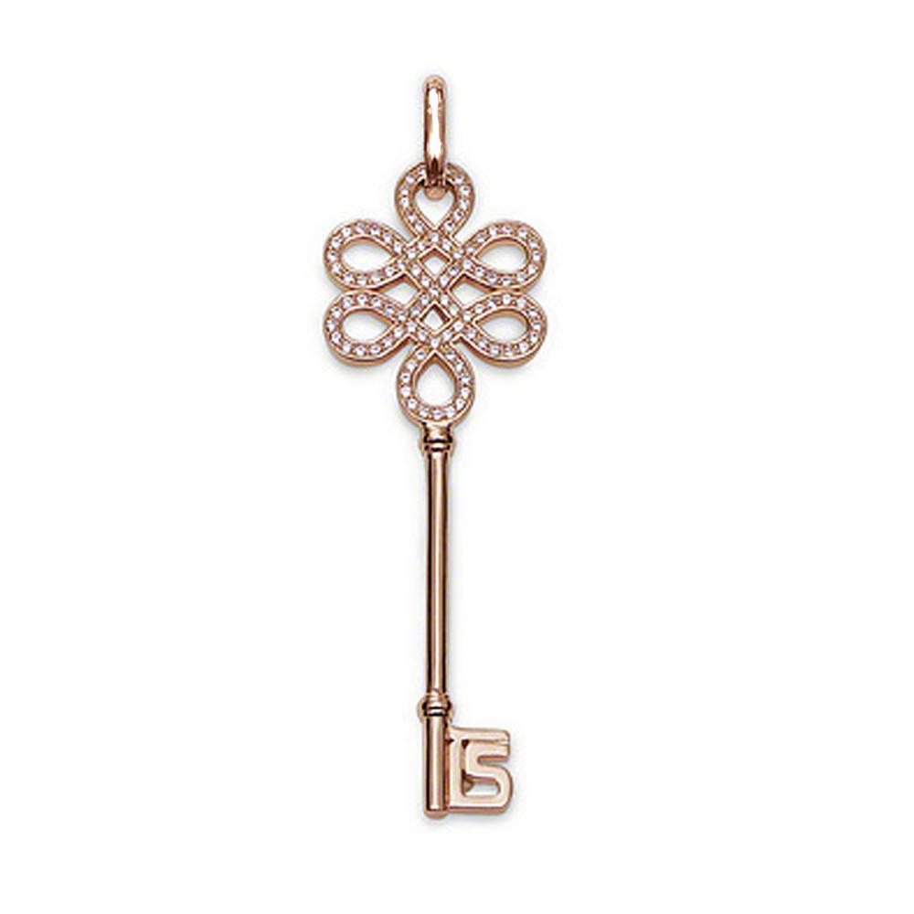 Refined Key Shape Handcrafted Sterling Silver Fleur De Lis Charms