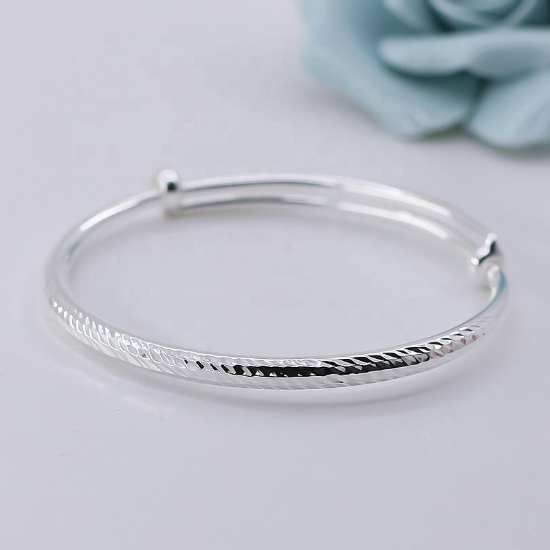Esthetical Thread Simple Silver Bracelet Wholesale In Guangzhou
