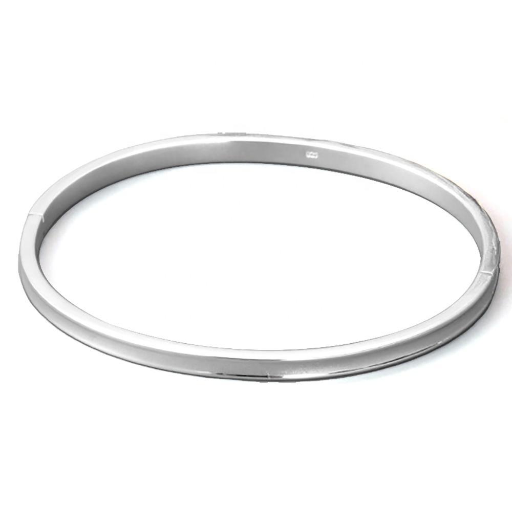 Refined thin style blank engravable silver bracelet man