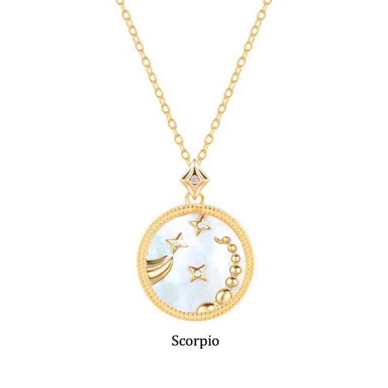 925 Silver Jewelry Sterling Zodiac Sign Scorpio Pendant Necklace