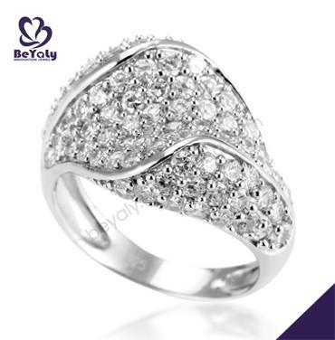 Delicate cz pave set silver rhodium plated bridal jewellery