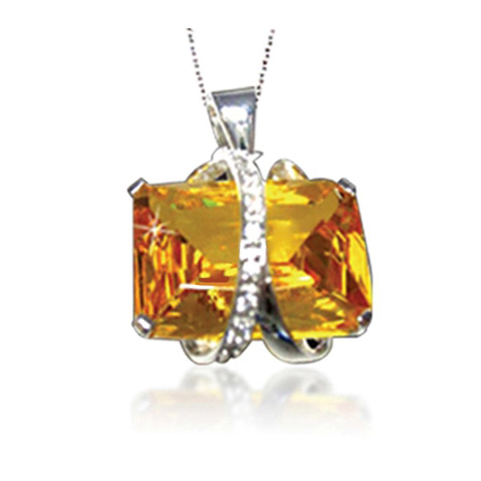 New trendy bezel setting 925 silver zircon pendants