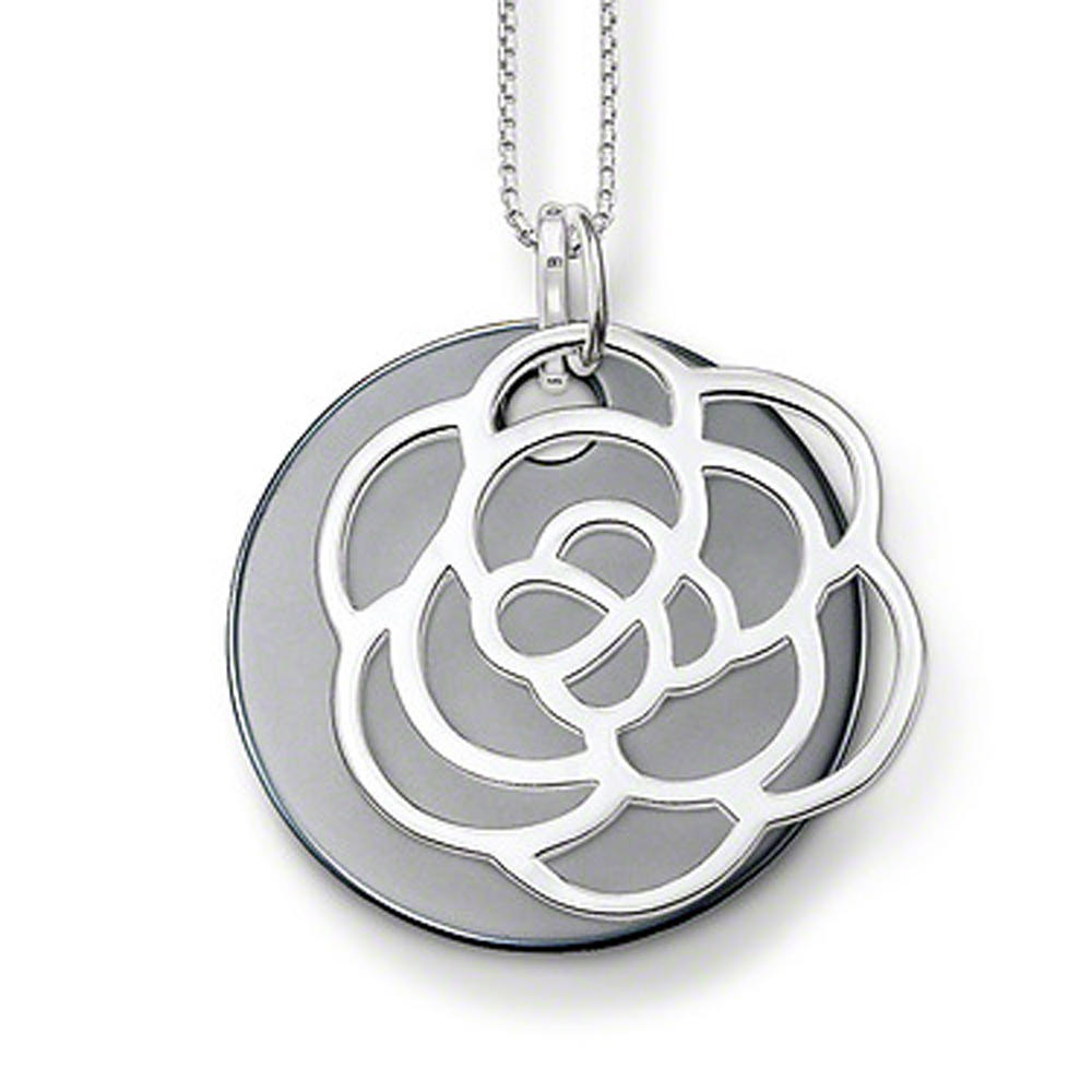 Hight quality silver round flower costume jewellery for girls