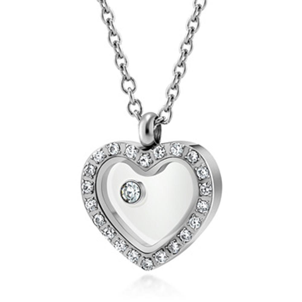 Fashion heart design wholesale silver birthstone charms