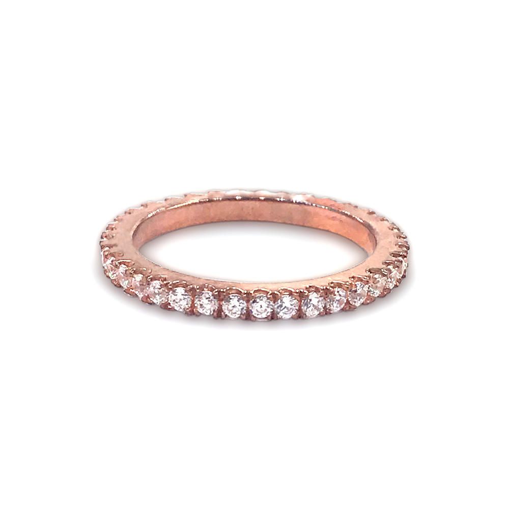 Thin style 925 sterling silver pink gemstone rings for women