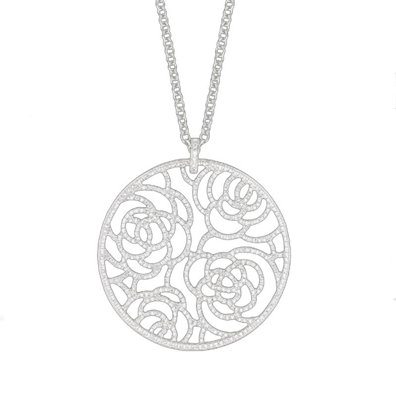 Exquisite cheap rhodium plated 925 sterling silver chains necklace