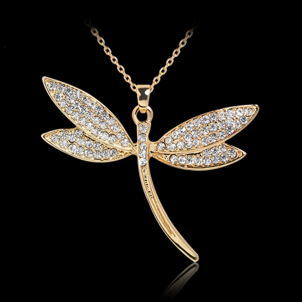 Dragonfly shape engraved silver bijoux wholesale insect pendant