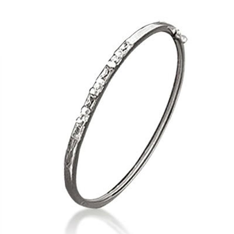 Charming women engraved sterling silver evil eye bracelet
