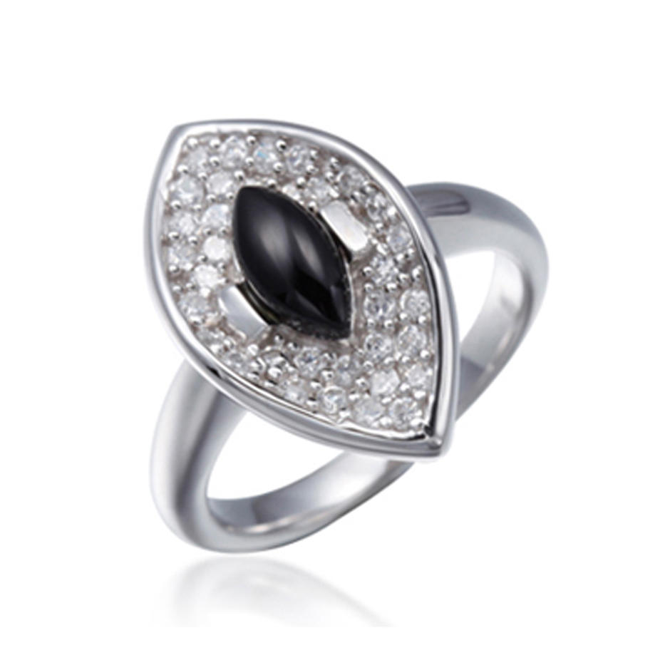 Special Style Specialized Silver Black Onyx Stones For Rings