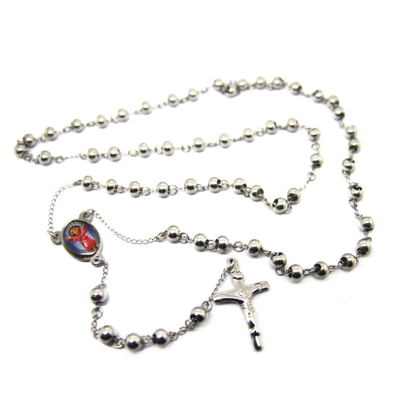 Silver color cross chains for locket pendant wholesale
