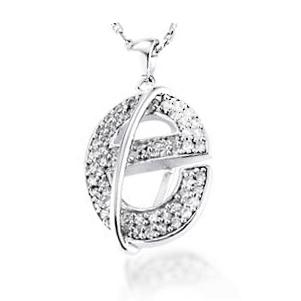 Simple Style Silver E Letter Alphabets Designs Pendant
