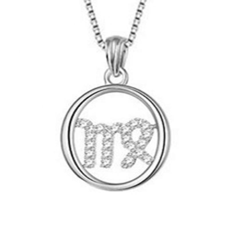 Virgo Zodiac Birth Symbol Sterling Silver Jewelry