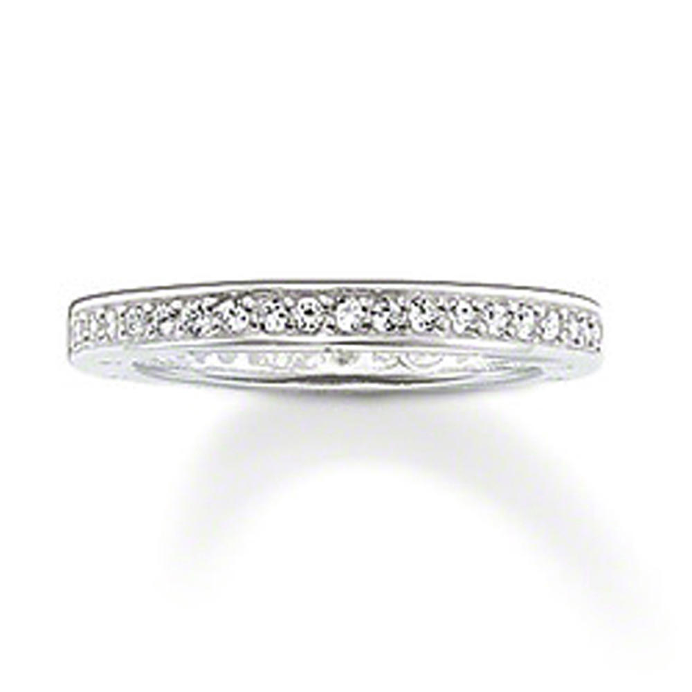 Clear cz channel setting 925 silver jewellery with gemstone